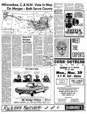 The Algona Upper Des Moines from Algona, Iowa on March 23, 1965 · Page 5