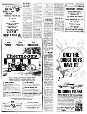 The Algona Upper Des Moines from Algona, Iowa on May 6, 1965 · Page 6