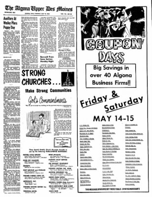 The Algona Upper Des Moines from Algona, Iowa on May 13, 1965 · Page 9