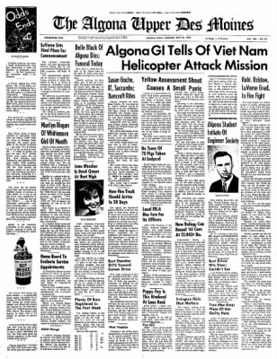 The Algona Upper Des Moines from Algona, Iowa on May 20, 1965 · Page 1