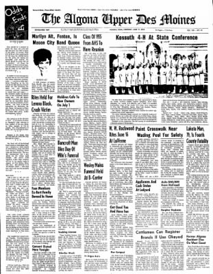 The Algona Upper Des Moines from Algona, Iowa on June 17, 1965 · Page 1