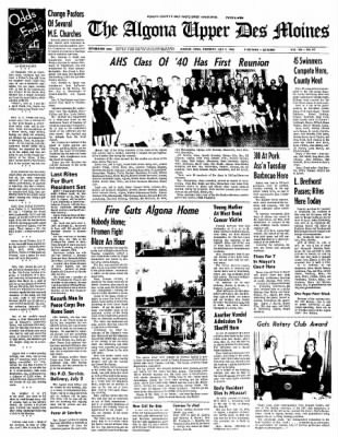 The Algona Upper Des Moines from Algona, Iowa on July 1, 1965 · Page 1