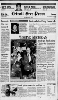 Detroit Free Press from Detroit, Michigan on November 3, 1988 · Page 1