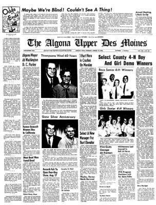 The Algona Upper Des Moines from Algona, Iowa on August 12, 1965 · Page 1
