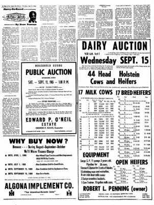 The Algona Upper Des Moines from Algona, Iowa on September 9, 1965 · Page 6