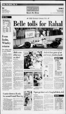 Detroit Free Press from Detroit, Michigan on June 8, 1992 · Page 17
