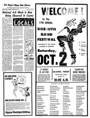 The Algona Upper Des Moines from Algona, Iowa on September 30, 1965 · Page 12