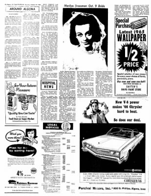The Algona Upper Des Moines from Algona, Iowa on October 21, 1965 · Page 10