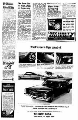 The Algona Upper Des Moines from Algona, Iowa on October 26, 1965 · Page 9